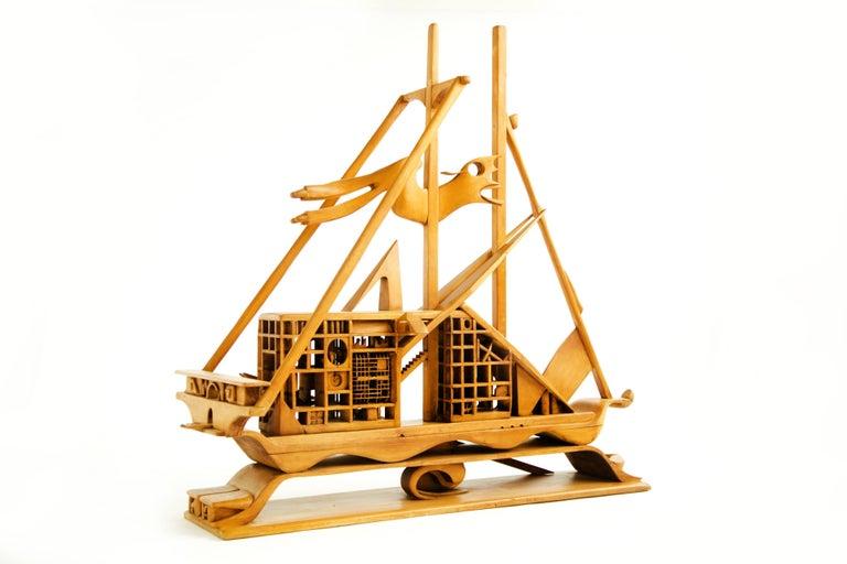 American Jan De Swart Monumental Sculptural Ship For Sale
