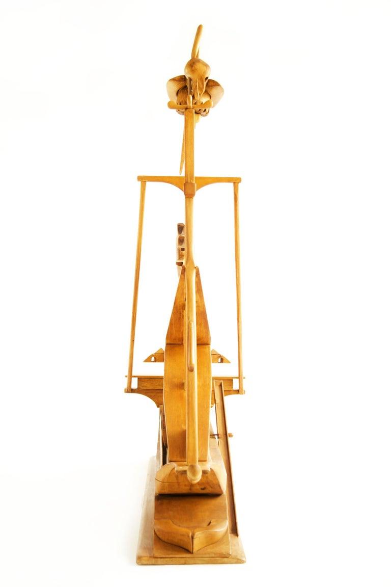 Carved Jan De Swart Monumental Sculptural Ship For Sale