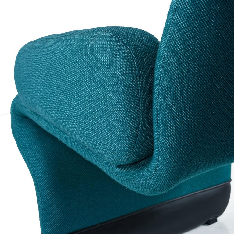 Jan Ekselius Style 10-Piece Modern Modular Teal Tweed Sectional Sofa Seating For Sale 3