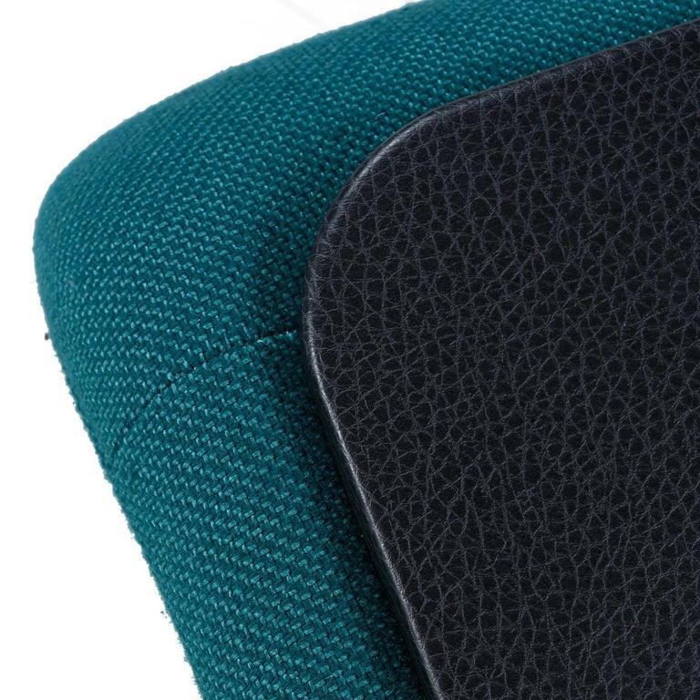 Jan Ekselius Style 10-Piece Modern Modular Teal Tweed Sectional Sofa Seating For Sale 4