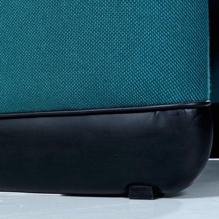 Jan Ekselius Style 10-Piece Modern Modular Teal Tweed Sectional Sofa Seating For Sale 5