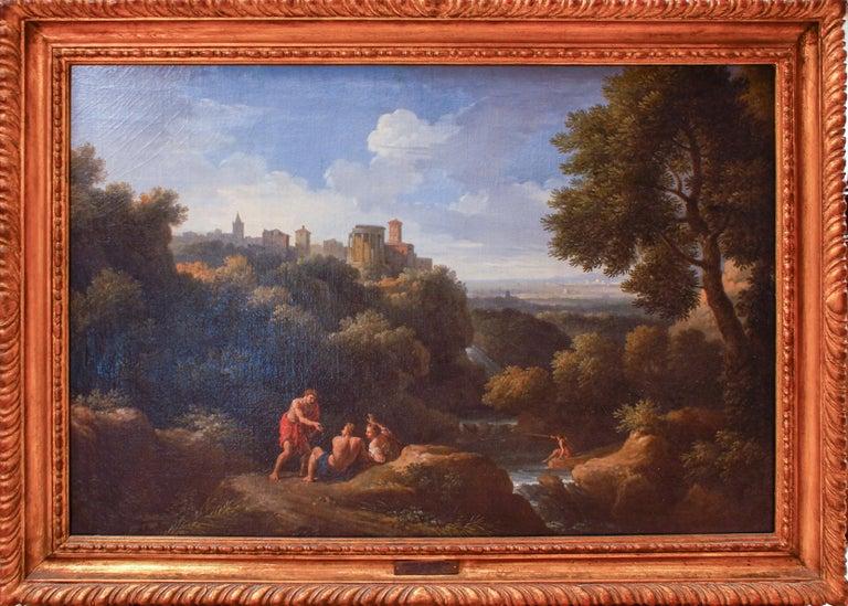 Pair of Roman Landscapes - by J.F. Van Bloemen - 18th Century - Painting by Jan Frans van Bloemen (Orizzonte)