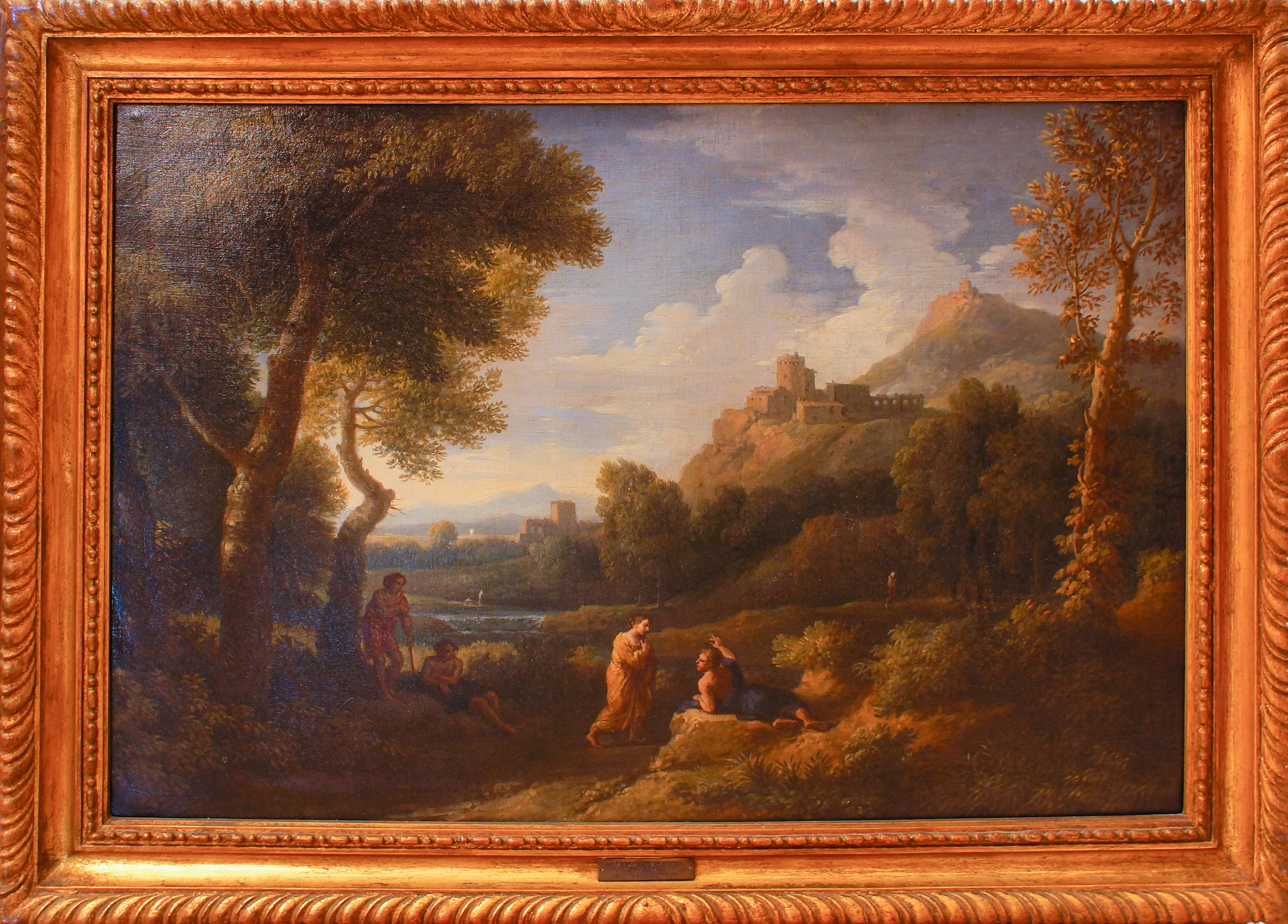 Pair of Roman Landscapes - by J.F. Van Bloemen - 18th Century