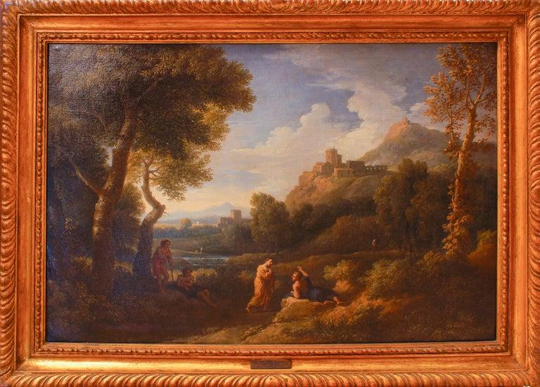 Jan Frans van Bloemen (Orizzonte) Figurative Painting - Pair of Roman Landscapes - by J.F. Van Bloemen - 18th Century
