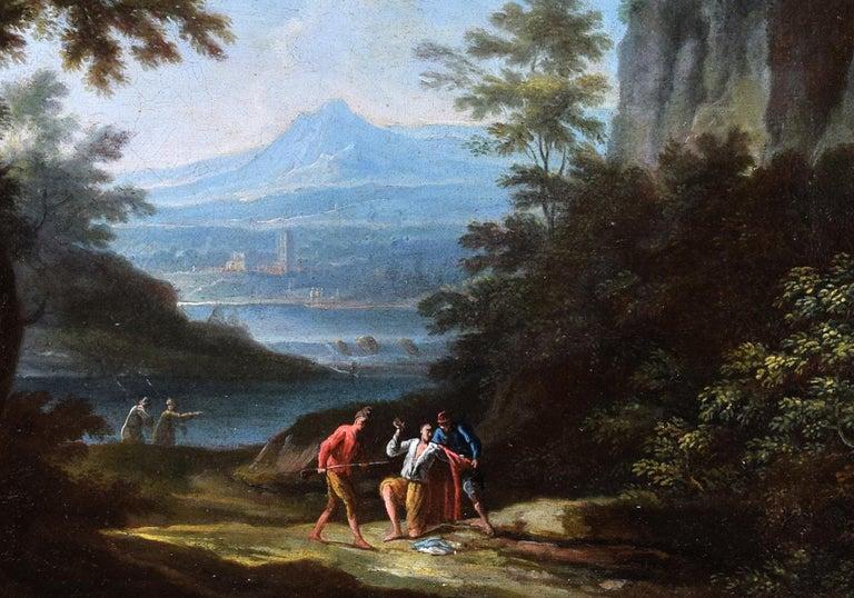 Two Arcadic Landscapes - J.F. Van Bloemen (follower of) - Oil on Canvas  - Painting by Jan Frans van Bloemen (Orizzonte)
