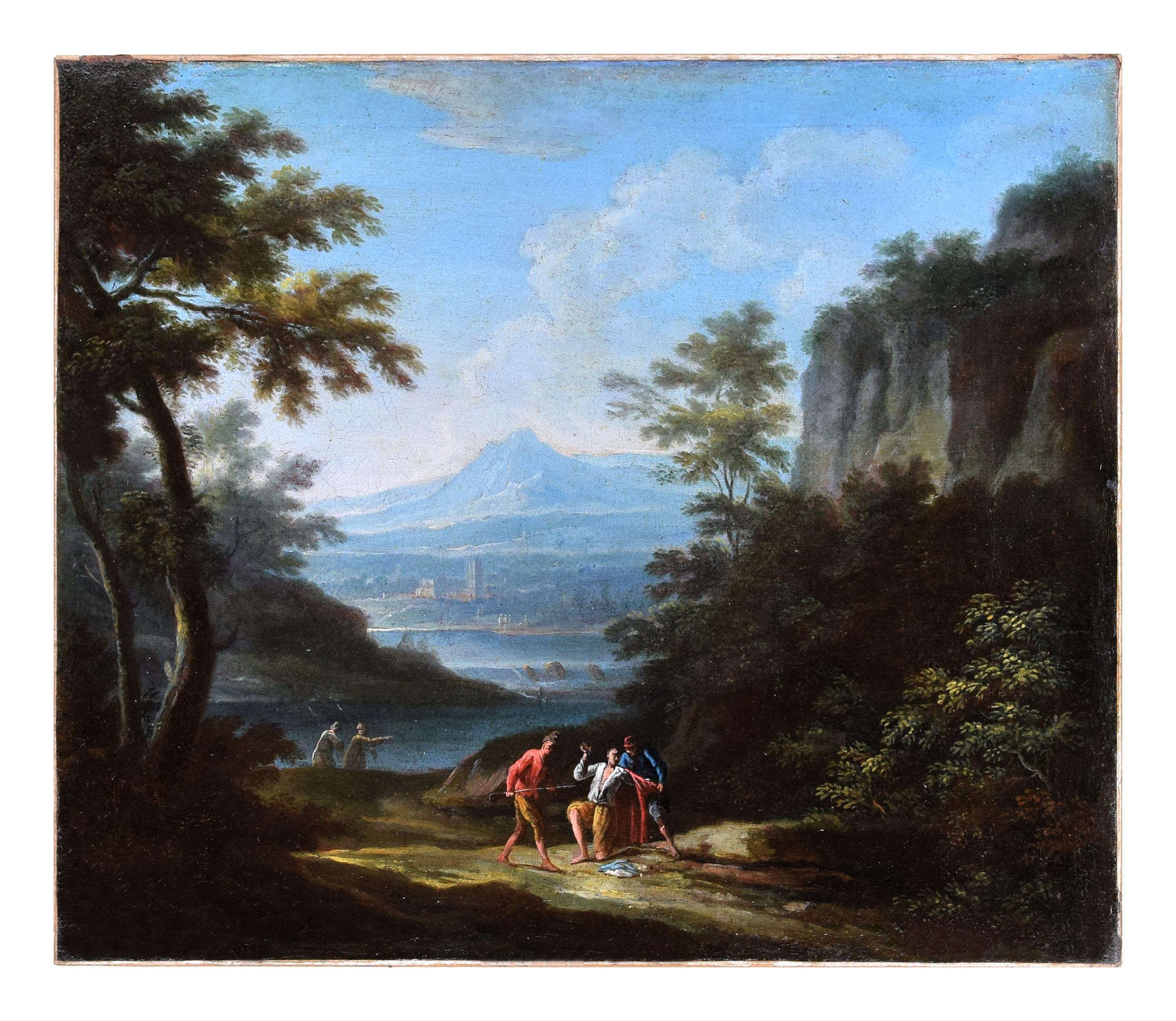 Two Arcadic Landscapes - J.F. Van Bloemen (follower of) - Oil on Canvas