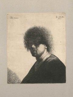 Portrait of a Man- Original Etching by J.G. van Vliet- 1634