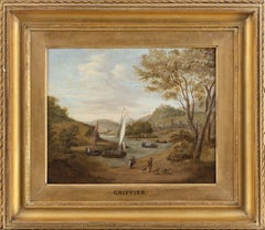 An Old Master river landscape - 'On the Rhine'