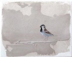 ''Sparrow'' Dutch Contemporary Fresco Painting with Sparrow, Birds