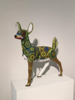 """""""Gotham Beast"""", Contemporary, Mixed Media, Sculpture, Glass Beads, Found Objects"""