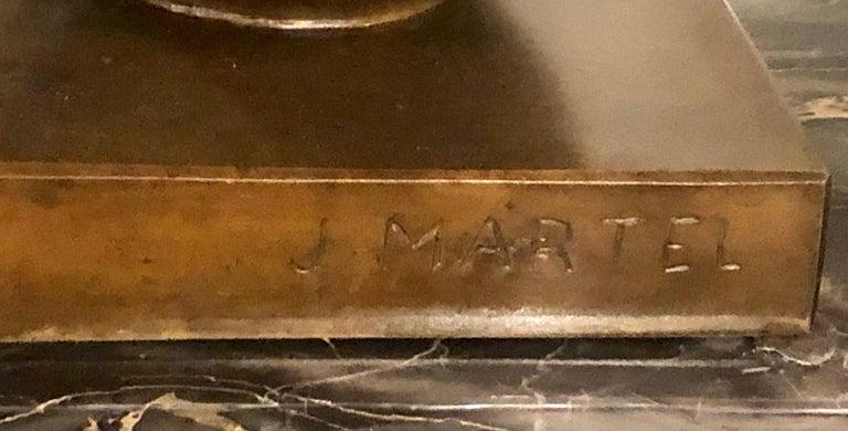 Jan & Joel Martel Art Deco Cubist Bronze Angel Monumental 2 of 8 For Sale 5