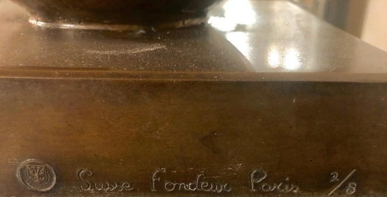 Jan & Joel Martel Art Deco Cubist Bronze Angel Monumental 2 of 8 For Sale 6