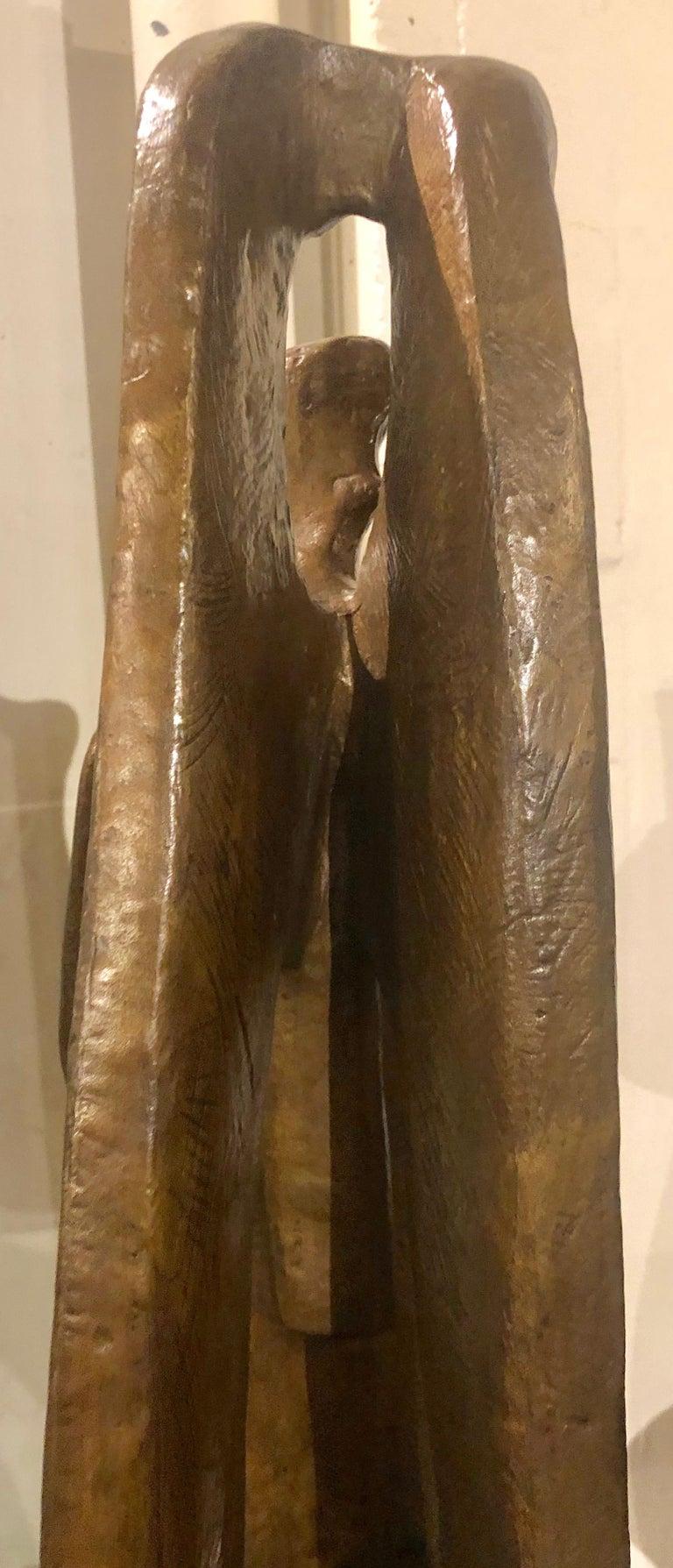 Jan & Joel Martel Art Deco Cubist Bronze Angel Monumental 2 of 8 For Sale 4