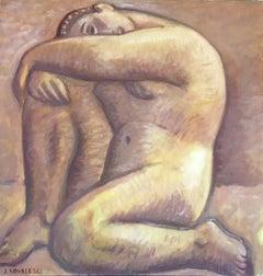 La India; Jan Kovaleski; American born 20th c; oil on canvas
