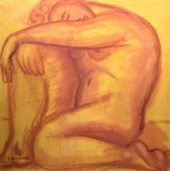 Study for la India; Jan Kovaleski; American born 20th c; oil on canvas