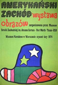 Naradowe Museum in Warsaw - Vintage Poster by Jan Mlodozeniec - 1970
