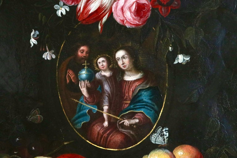 The Holy Family - 17th Century Oil, Religious Old Master - Gillemans the Younger For Sale 3