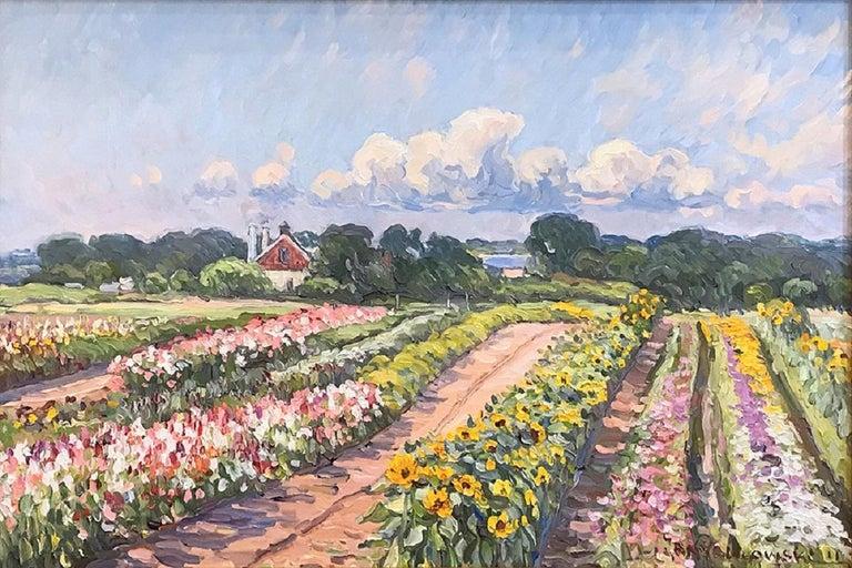Jan Pawlowski Landscape Painting - Bartlett's Flower Field