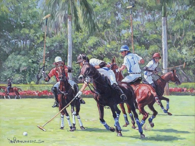 Jan Pawlowski Animal Painting - Polo Game in Wellington, Florida