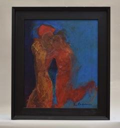 Embrace me - Figurative Art Dutch Visual Artist Colorful Expressionist Colorful