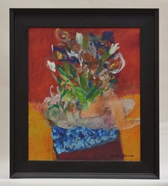 Flowers - Abstract Art Dutch Visual Artist Colorful Expressionist Cheerful