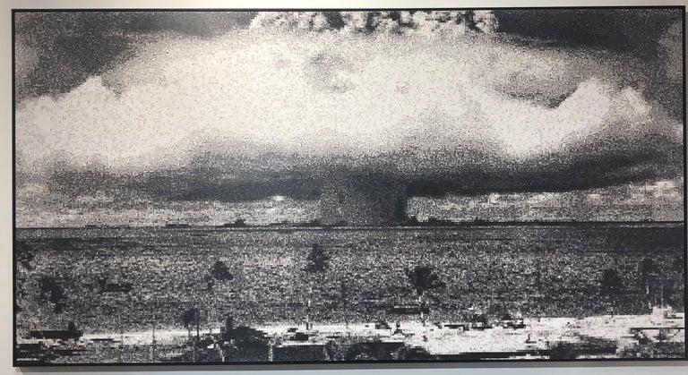Operation Crossroads: Baker, Pixelated Image of Declassified Military Testing - Print by Jan Pieter Fokkens