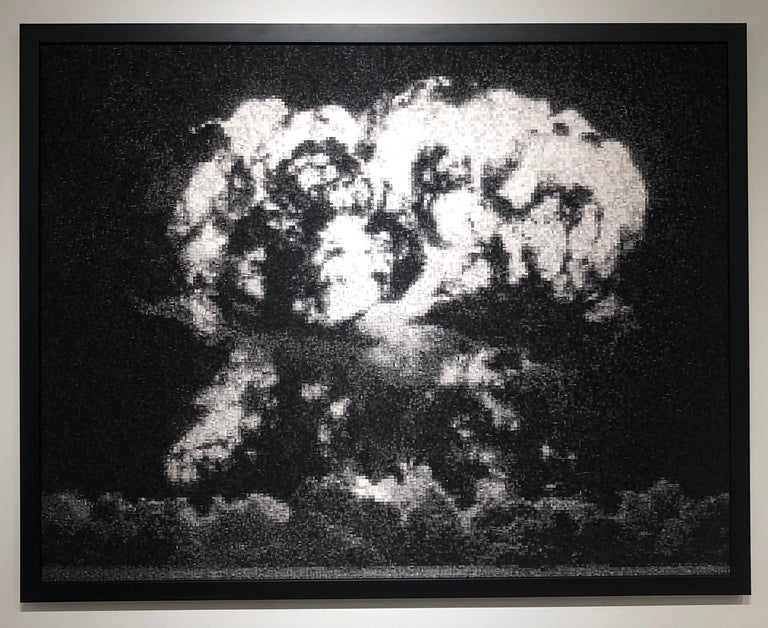 Operation Hardtack: Apple, Pixelated Image of Declassified Military Testing - Print by Jan Pieter Fokkens