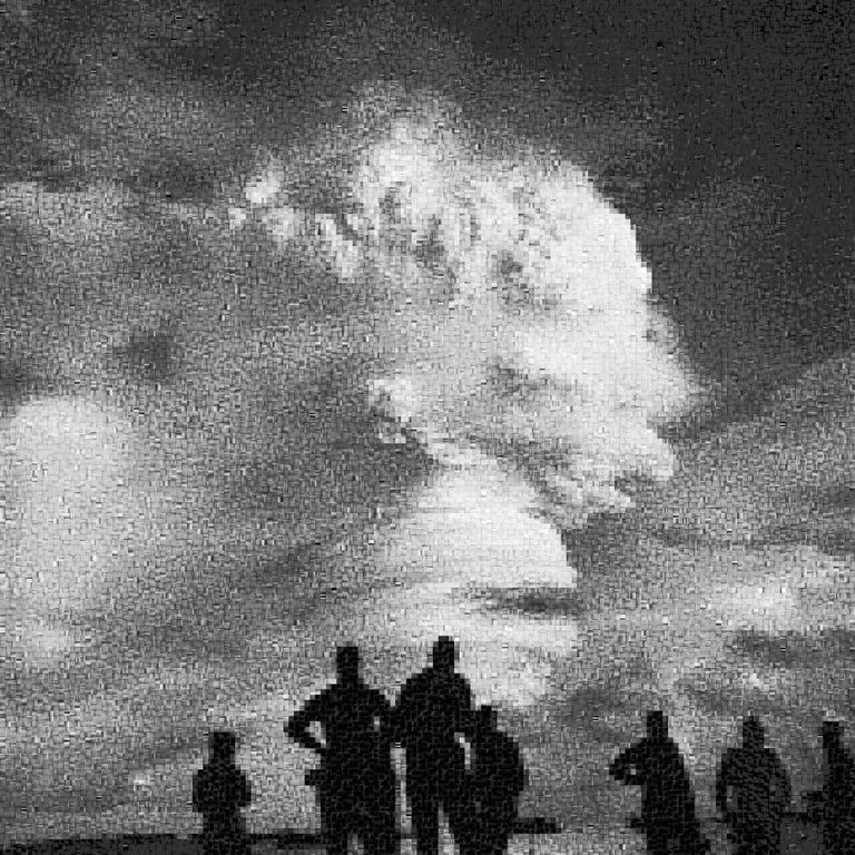 Jan Pieter Fokkens Figurative Print - Operation Hardtack: Oak - Declassified Military Bomb Test Photo Abstraction