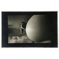 "Jan Saudek, Czech Photographer, Model Print, Titled  ""Do you hear me"""
