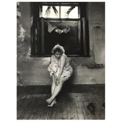 "Jan Saudek Limited Silver Gelatin Photographic Print ""A Maidservant's Story"""