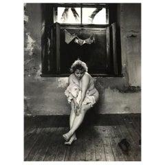 "Jan Saudek Signed Silver Gelatin Photographic Print ""A Maidservant's Story"""