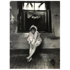 "Jan Saudek Signed Silver Gelatin Photographic Print ""A Maidservant's Story"""
