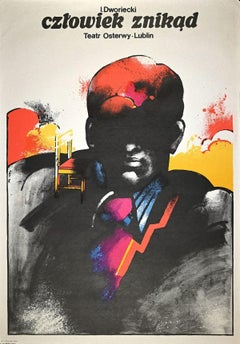 Osterwy theatre poster - Lublin - Vintage Offset Print by Jan Sawka - 1977