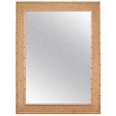 Jan Showers Park Avenue Metallic Bamboo Mirror for Curatedkravet
