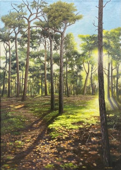 21st Century Contemporary Dutch Landscape Painting of a Forest
