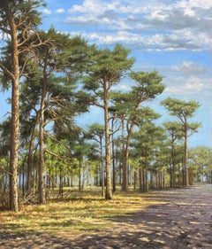 At the Edge of the Forest- 21st Century Contemporary Dutch Landscape Painting