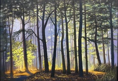Backlight- 21st Century Contemporary Dutch Landscape Painting of a Forest