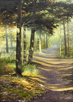 Path in the Sun- 21st Century Contemporary Dutch Landscape Painting