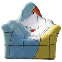 Jan Snoeck Ceramics Chair or Sculpture from the MS Volendam, Netherlands 1990