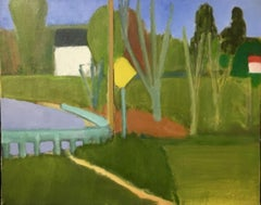 South Freeport Corners, Painting, Oil on Canvas