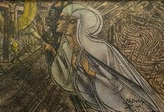 """Allen de Christus kan alles redden"" Religious Symbolist Christian Postcard"