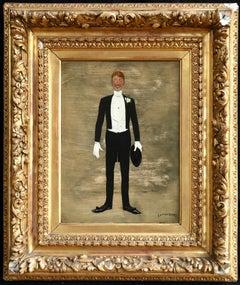 Celebration - 19th Century Oil, Portrait of Elegant Gentleman by Jan Van Beers