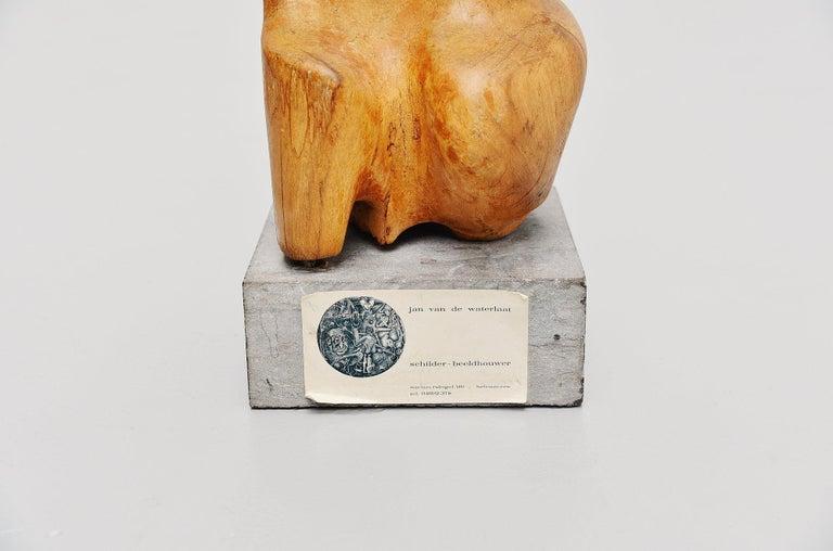 Late 20th Century Jan Van De Waterlaat Sculpture, 1973 For Sale