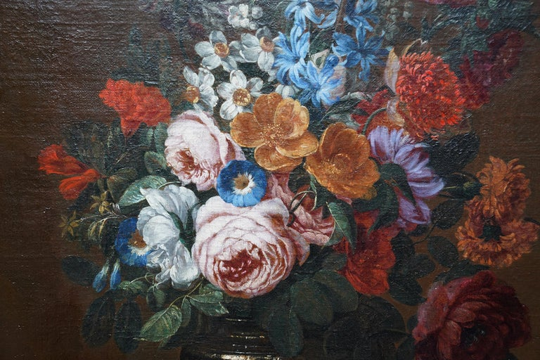 Floral Bouquet with Narcissi - Dutch Golden Age still life oil painting flowers For Sale 1