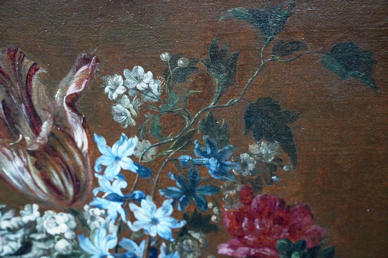 Floral Bouquet with Narcissi - Dutch Golden Age still life oil painting flowers For Sale 3