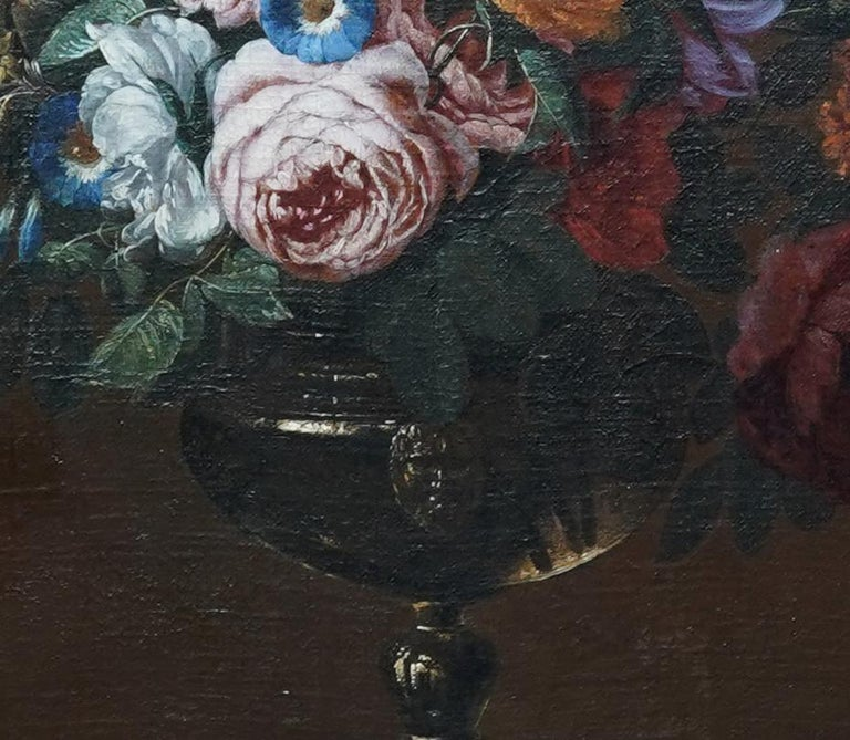 Floral Bouquet with Narcissi - Dutch Golden Age still life oil painting flowers For Sale 4