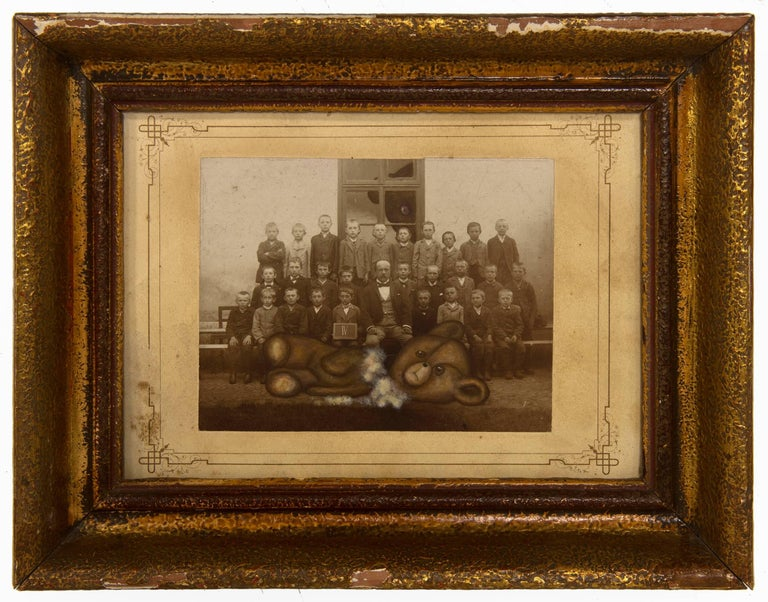 untitled (class portrait with torn stuffed bear)
