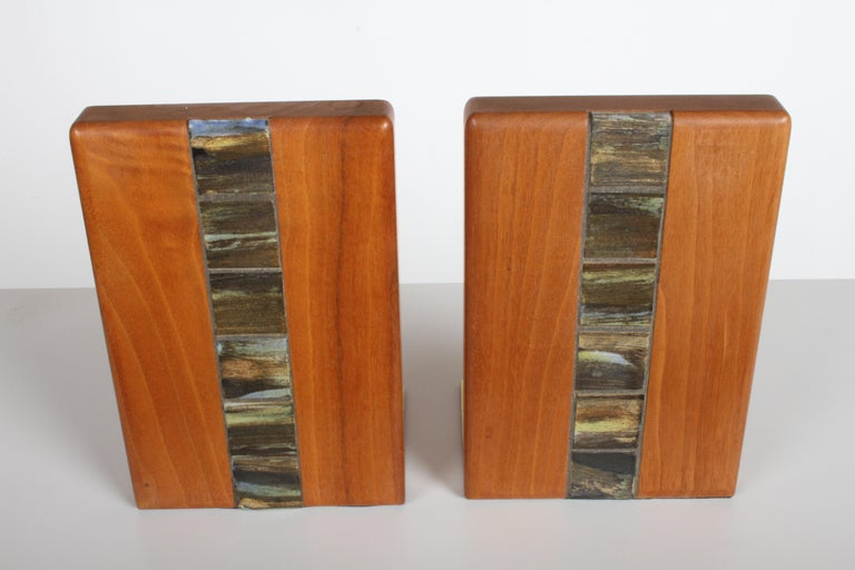 Mid-Century Modern Jane and Gordon Martz Bookends for Marshall Studios For Sale