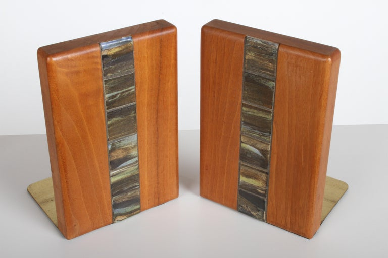 Jane and Gordon Martz Bookends for Marshall Studios In Good Condition For Sale In St. Louis, MO
