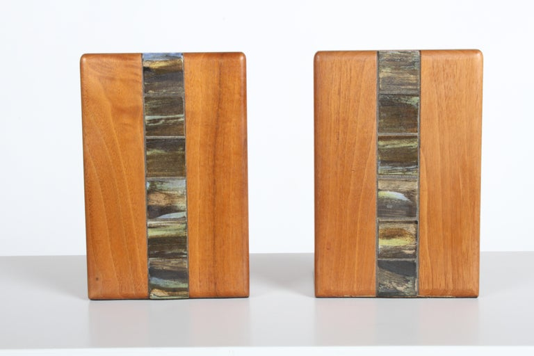 Ceramic Jane and Gordon Martz Bookends for Marshall Studios For Sale